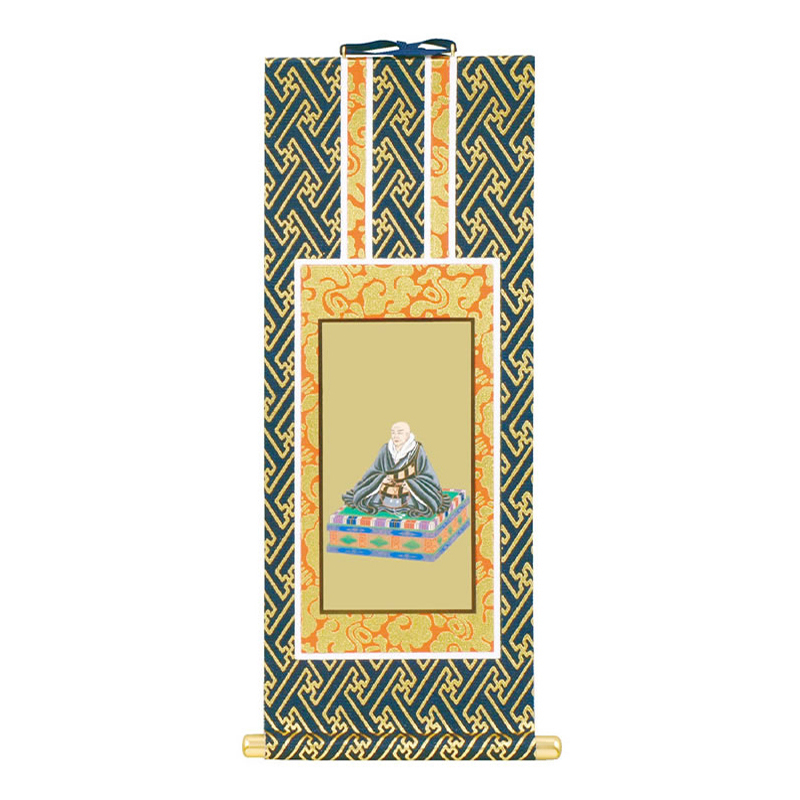 親鸞聖人(紺表装/金地面)