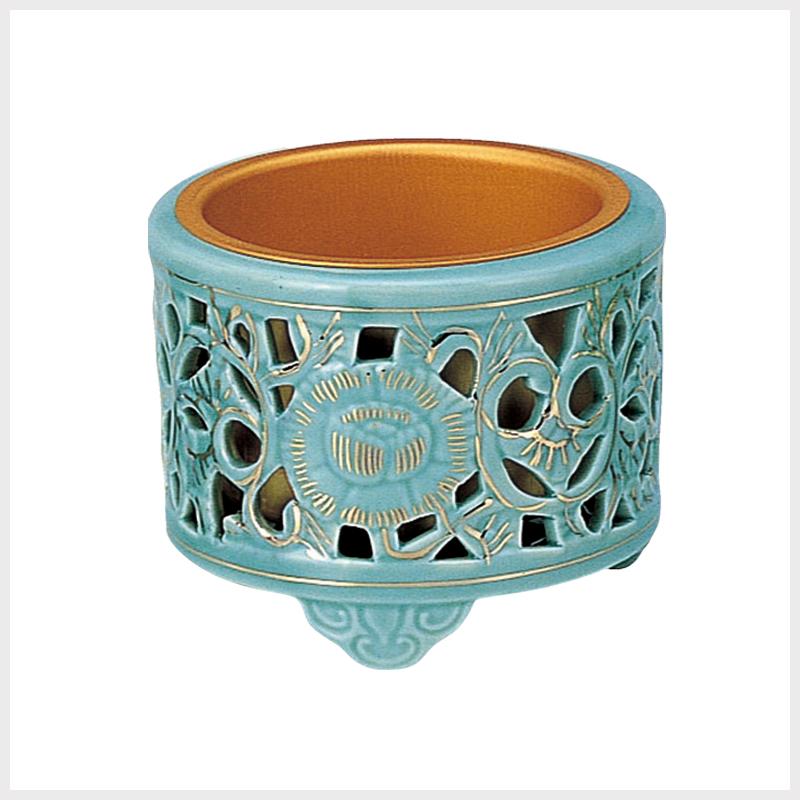 陶器 透かし香炉(差金付)